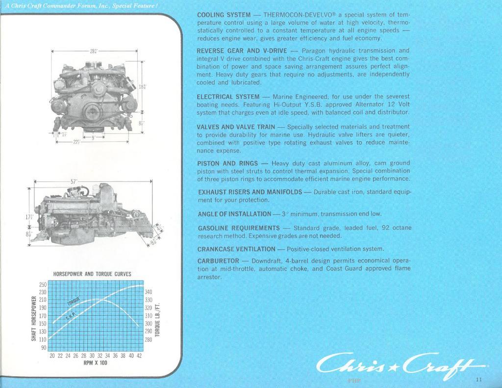 Chris Craft Commander Forum: Chris Craft Power